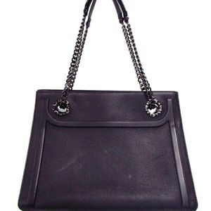 BVLGARI Shopping 38487 Black Leather Tote